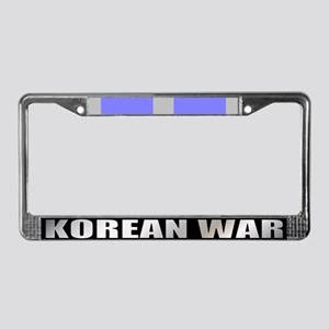 Korean War Veteran Ribbon License Plate Frame