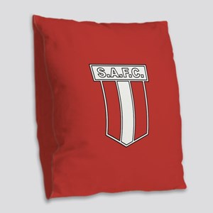 Sunderland AFC Badge Burlap Throw Pillow