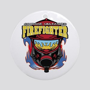 Firefighter Courage Unleashed Ornament (Round)