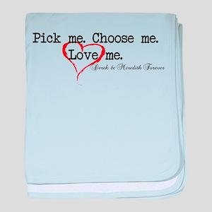 Pick Me - Derek Meredith baby blanket