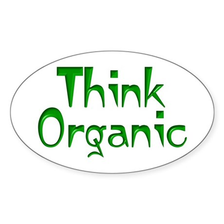 Organically Inclined Sticker (Oval)
