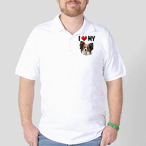I Love My Papillon Golf Shirt