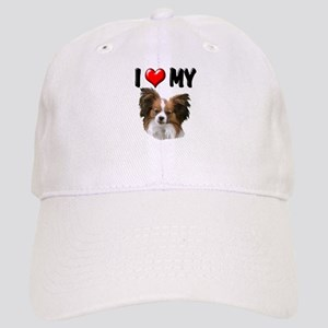 I Love My Papillon Cap