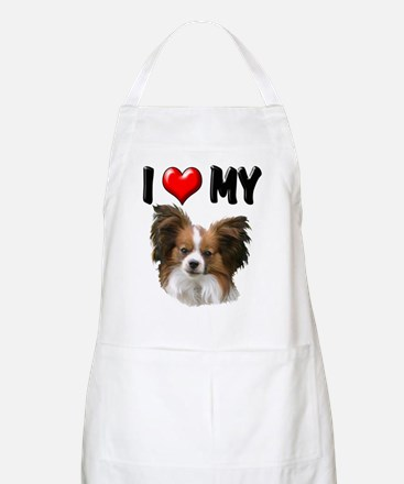 I Love My Papillon Apron