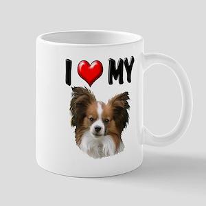 I Love My Papillon Mug