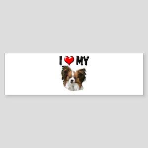 I Love My Papillon Sticker (Bumper)