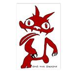 Pack of 8 Red Krampus Postcards