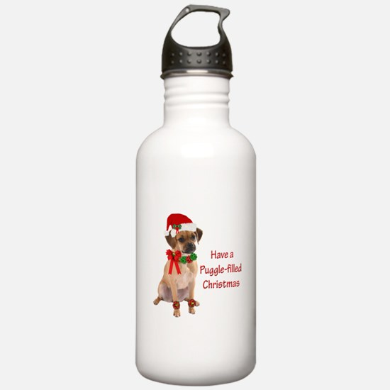 Christmas Puggle Water Bottle