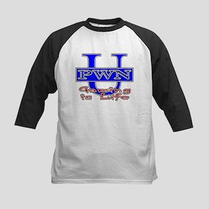 """PWN U """"Gaming Is Life"""" Kids Baseball Jersey"""