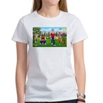 Frustrated golfers cartoon Women's T-Shirt