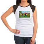 Frustrated golfers cartoon Women's Cap Sleeve T-Sh