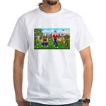 Frustrated golfers cartoon White T-Shirt