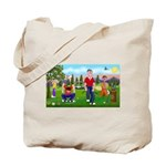 Frustrated golfers cartoon Tote Bag