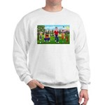 Frustrated golfers cartoon Sweatshirt