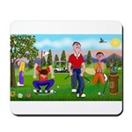 Frustrated golfers cartoon Mousepad