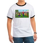Frustrated golfers cartoon Ringer T
