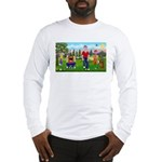 Frustrated golfers cartoon Long Sleeve T-Shirt