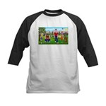 Frustrated golfers cartoon Kids Baseball Jersey