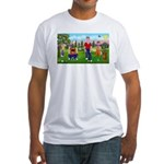 Frustrated golfers cartoon Fitted T-Shirt