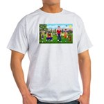 Frustrated golfers cartoon Ash Grey T-Shirt