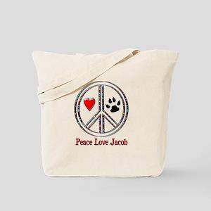 Peace Love Jacob Tote Bag