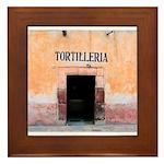 Tortilleria in San Miguel, MX Framed Tile