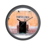 Tortilleria in San Miguel, MX Wall Clock