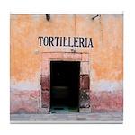 Tortilleria in San Miguel, MX Tile Coaster