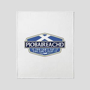 Piobreached Throw Blanket