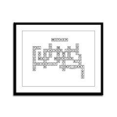 MOTHER SCRABBLE-STYLE Framed Panel Print