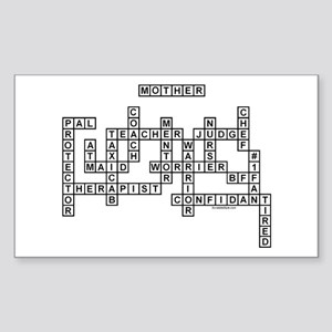 MOTHER SCRABBLE-STYLE Sticker (Rectangle)
