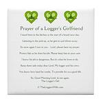 Prayer Logger's Girlfriend Tile Coaster