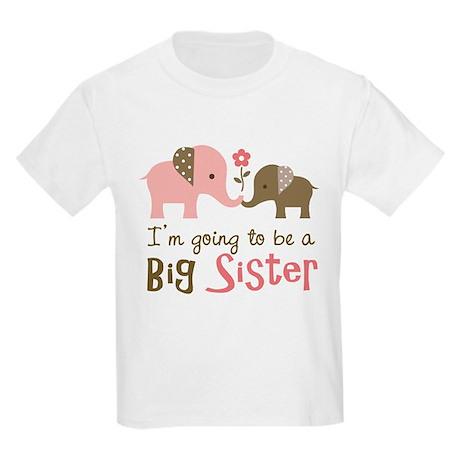 Big Sister to be - Mod Elephant Kids Light T-Shirt