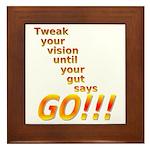Tweak Your Vision Framed Tile