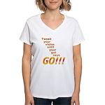 Tweak Your Vision Women's V-Neck T-Shirt