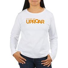 Cause an Uproar Women's Long Sleeve White T-Shirt