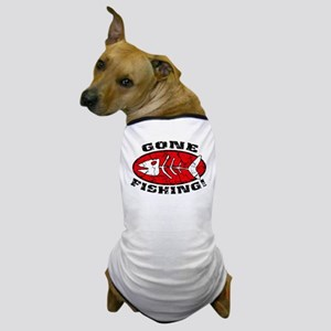 Gone Fishing Red Dog T-Shirt