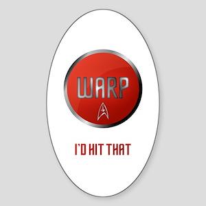 I'd Hit Warp Sticker (Oval)