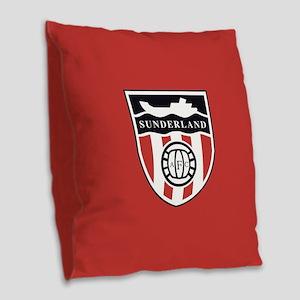 Sunderland AFC Ship Burlap Throw Pillow