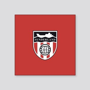 "Sunderland AFC Ship Square Sticker 3"" x 3"""