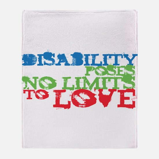 Disability + Love Throw Blanket