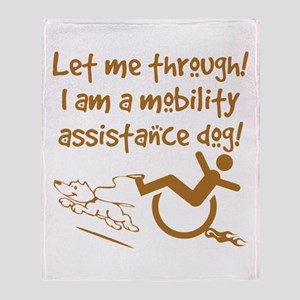 Mobility Assist Dog Throw Blanket