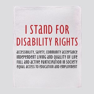 Disability Rights Throw Blanket