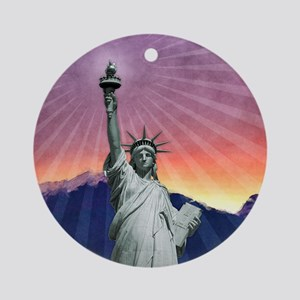 Statue of Liberty Round Ornament