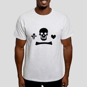 Stede Bonnet Pirate Flag Light T-Shirt