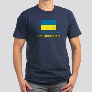 Ukrainian Dupa Men's Fitted T-Shirt (dark)