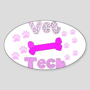 Vet Technician Sticker (Oval)