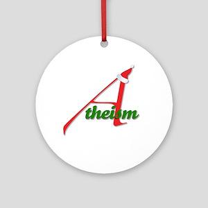 Atheist Santa Hat Round Ornament
