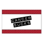 Cancer Sucks Rectangle Sticker