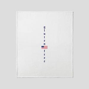 gluten-free (U.S. Flag) Throw Blanket
